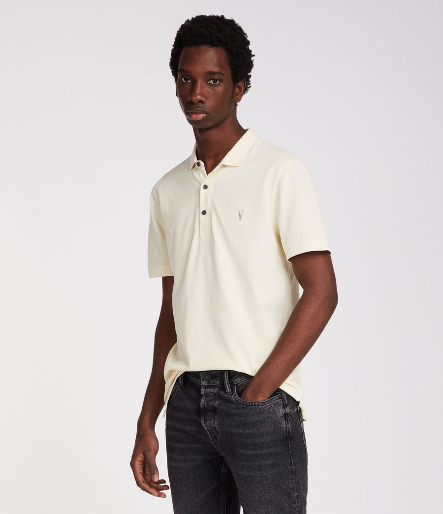 Mens Reform Polo Shirt (soft_yellow) - Image 1