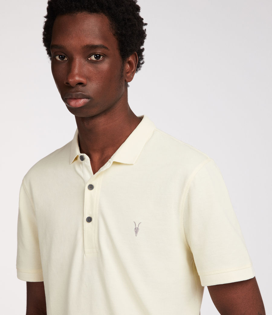 Mens Reform Polo Shirt (soft_yellow) - Image 2