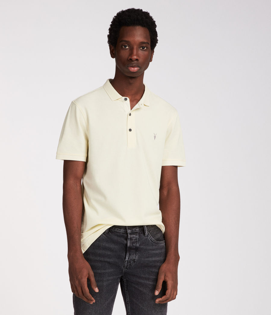Mens Reform Polo Shirt (soft_yellow) - Image 3