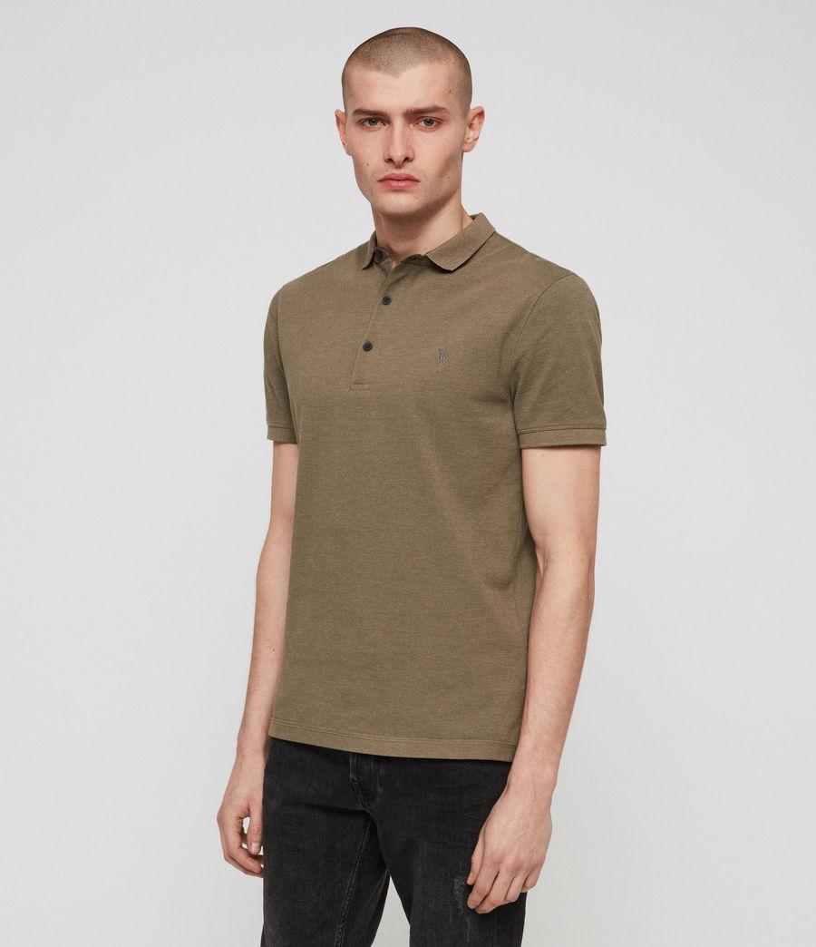 Men's Reform Polo Shirt (bark_green_marl) - Image 1