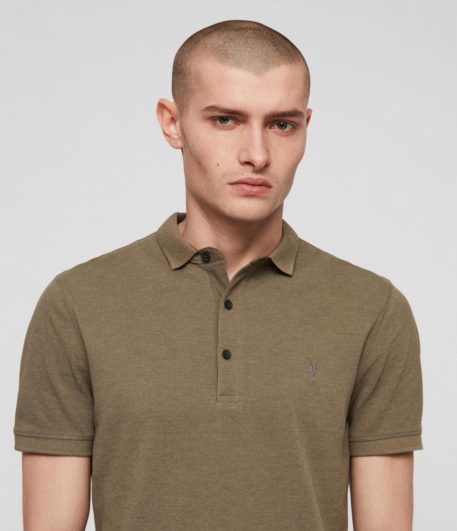 Men's Reform Polo Shirt (bark_green_marl) - Image 2
