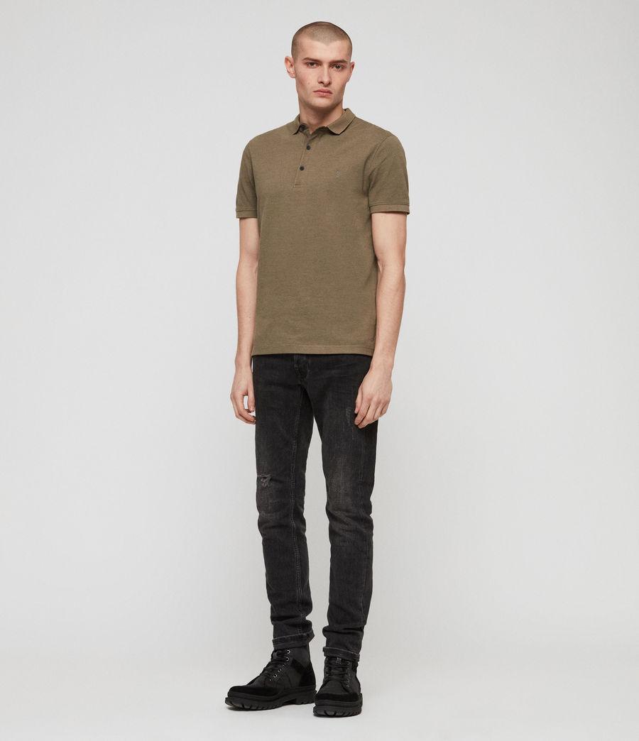 Men's Reform Polo Shirt (bark_green_marl) - Image 3