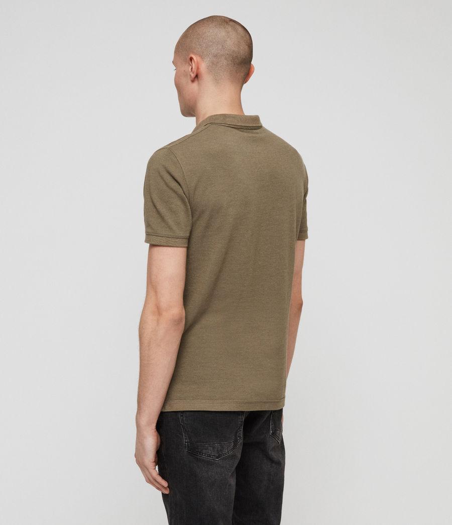Men's Reform Polo Shirt (bark_green_marl) - Image 4