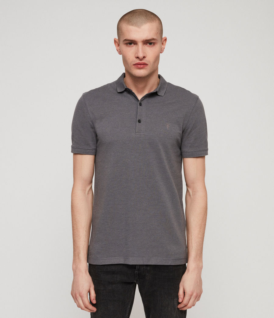 Mens Reform Short Sleeve Polo Shirt (granite_blue_marl) - Image 1