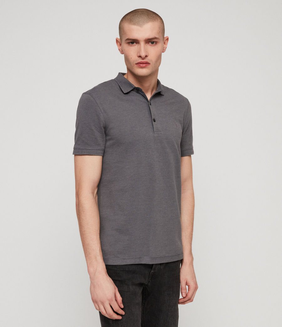 Men's Reform Polo Shirt (granite_blue_marl) - Image 4