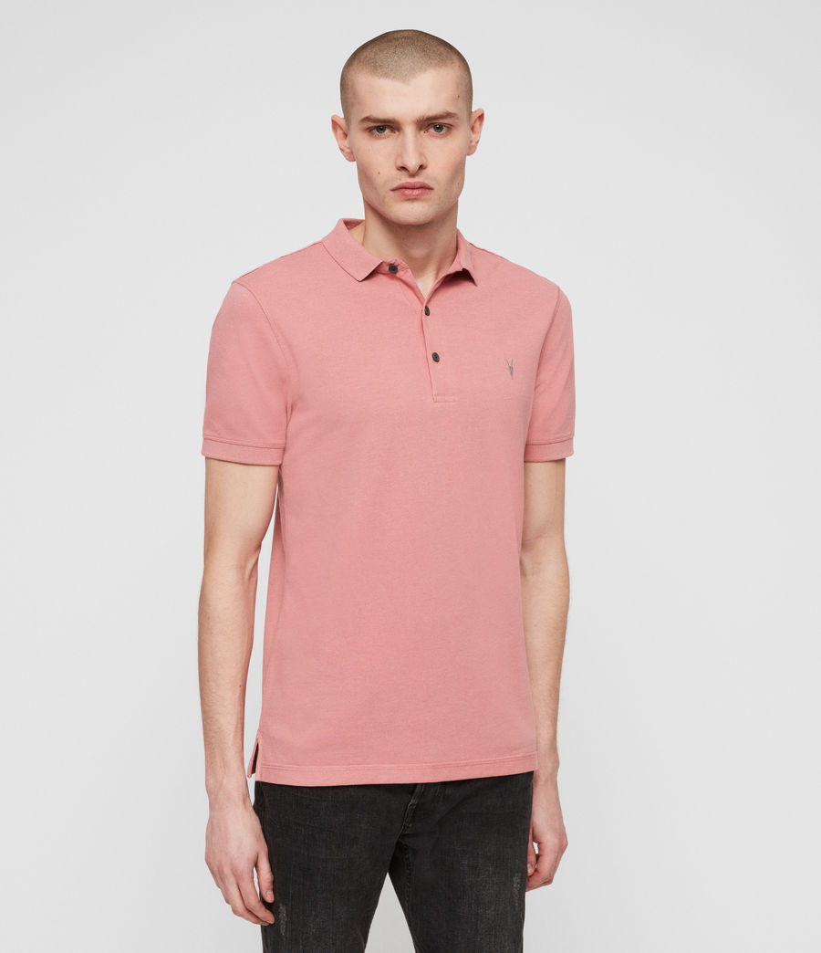 Men's Reform Short Sleeve Polo Shirt (moth_pink_marl) - Image 1
