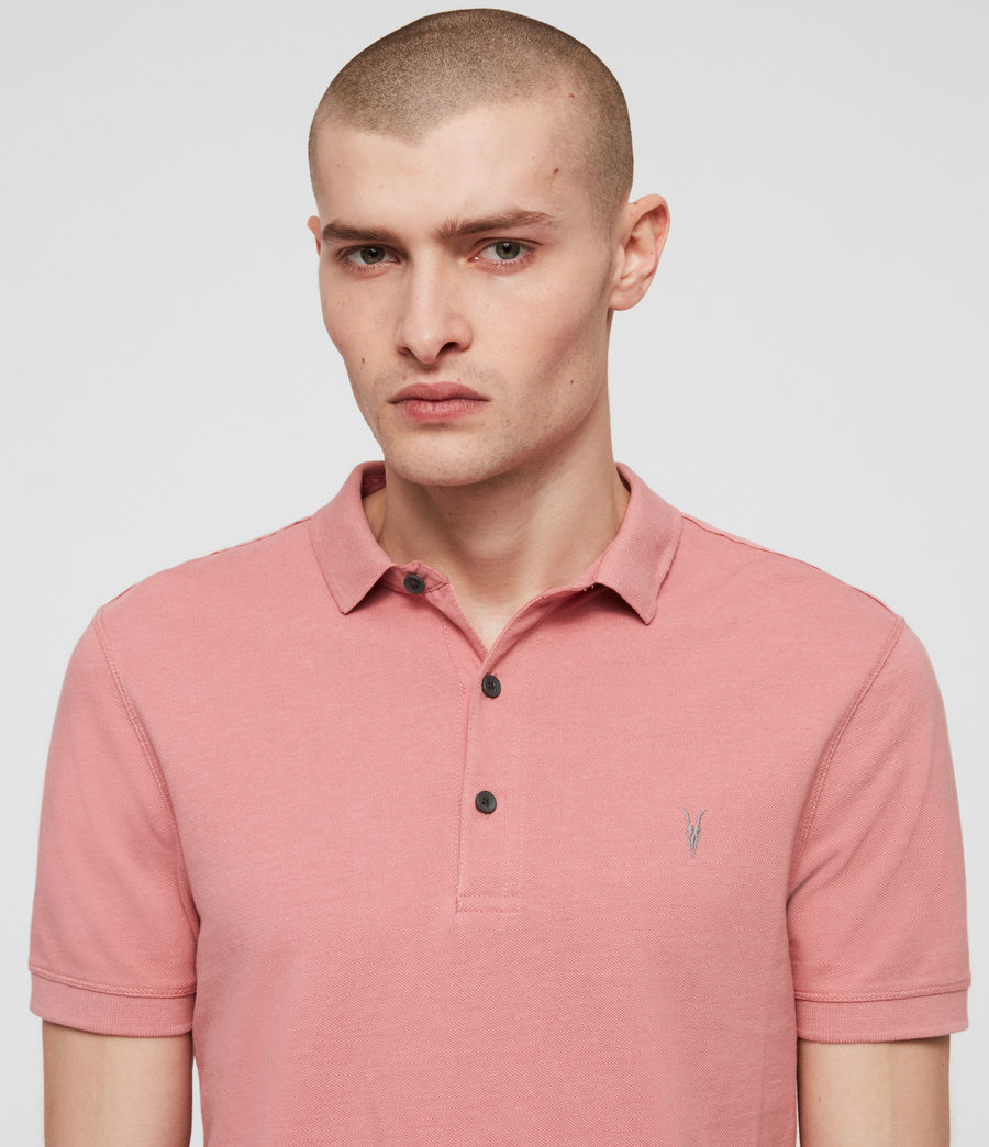 Men's Reform Short Sleeve Polo Shirt (moth_pink_marl) - Image 2