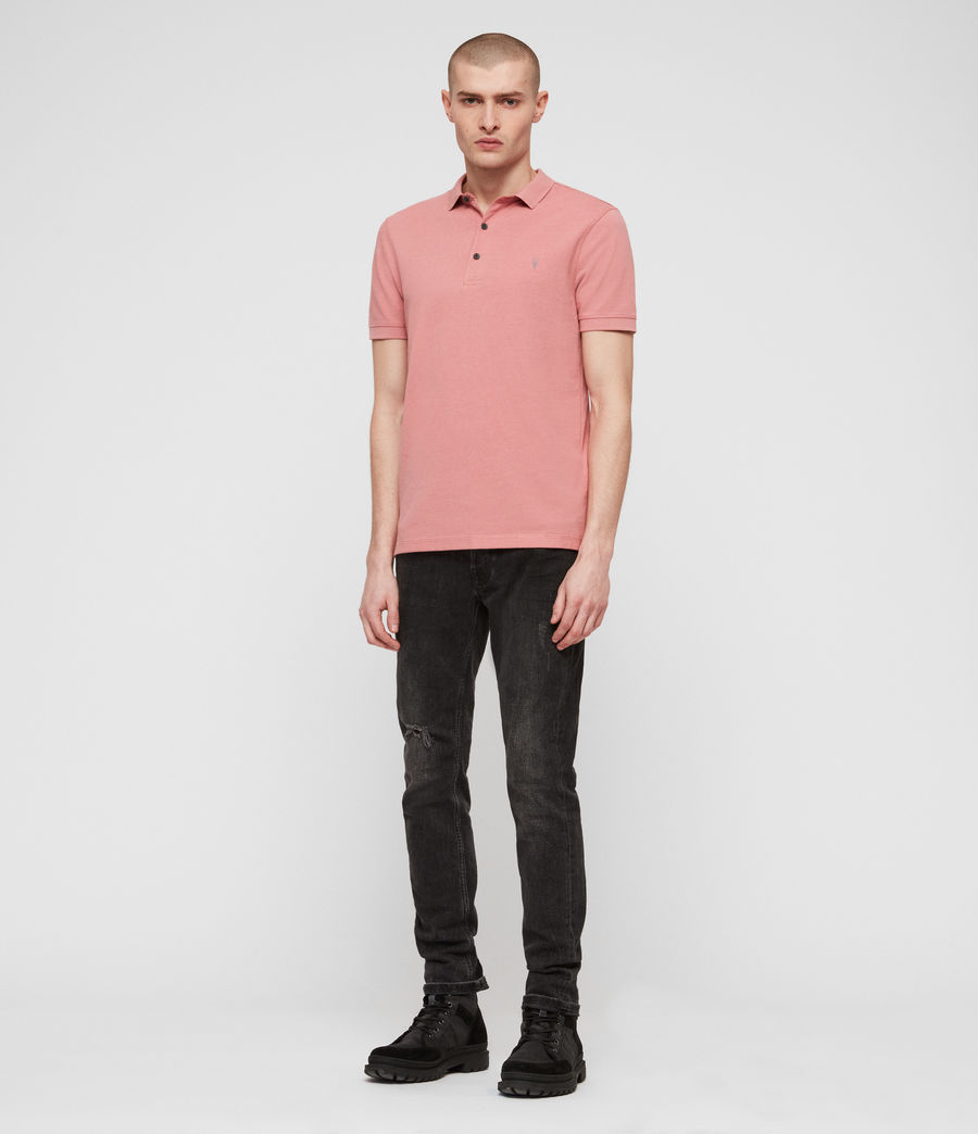 Men's Reform Short Sleeve Polo Shirt (moth_pink_marl) - Image 3