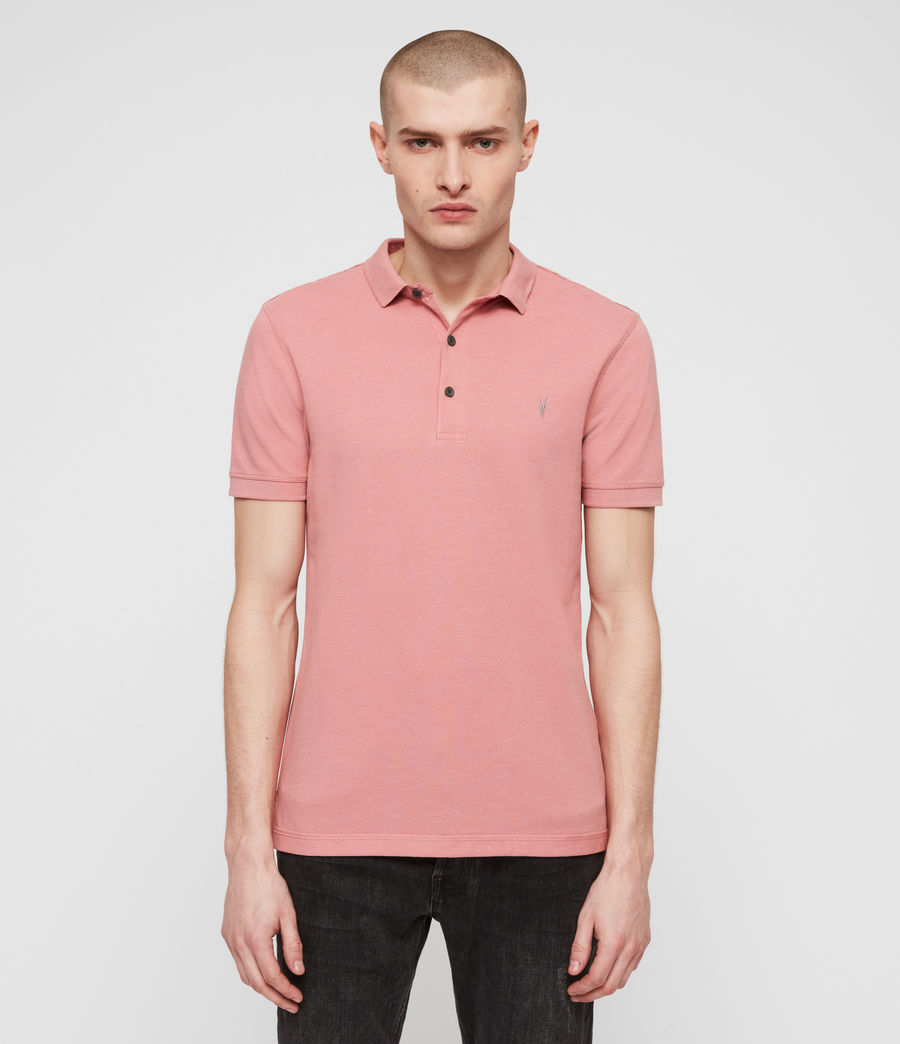 Men's Reform Short Sleeve Polo Shirt (moth_pink_marl) - Image 4