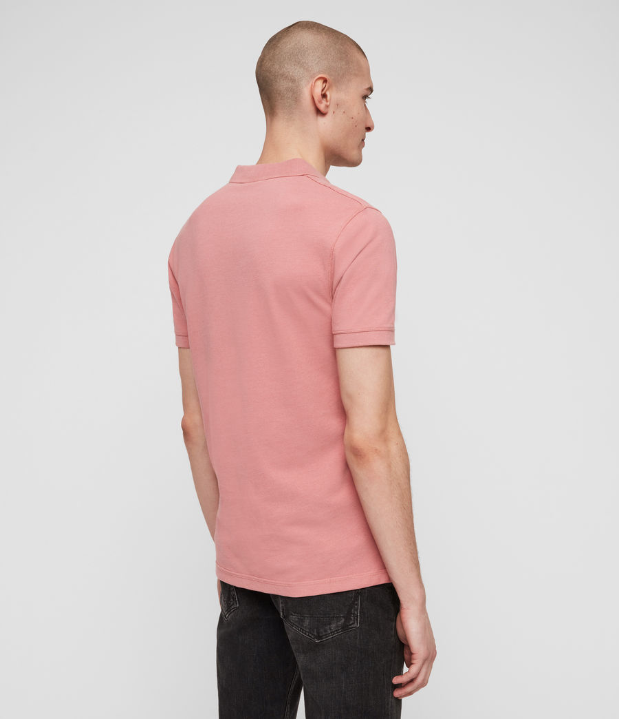Men's Reform Short Sleeve Polo Shirt (moth_pink_marl) - Image 5