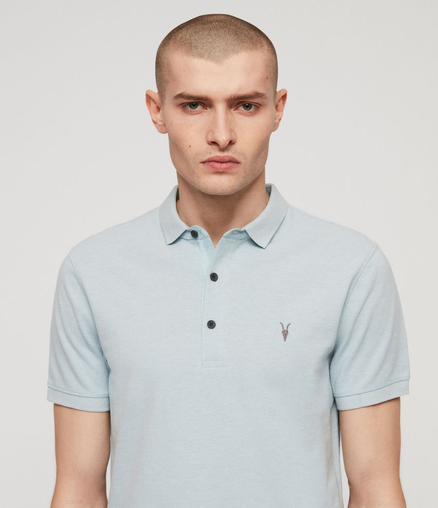 Men's Reform Polo Shirt (arbour_blue_marl) - Image 2