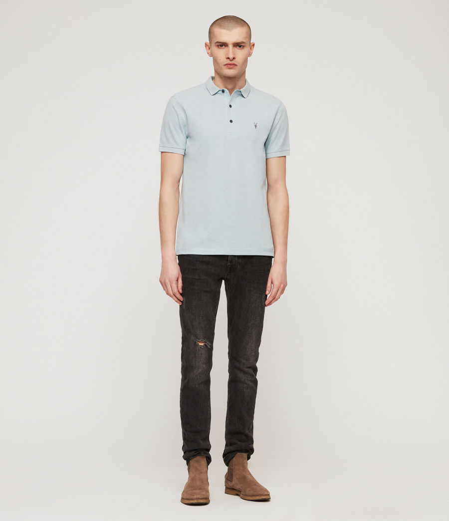 Men's Reform Polo Shirt (arbour_blue_marl) - Image 3