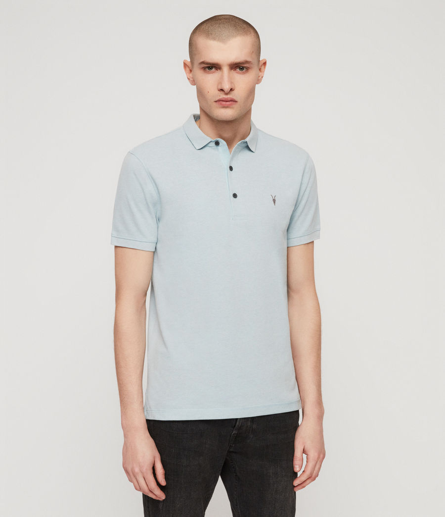 Men's Reform Polo Shirt (arbour_blue_marl) - Image 4