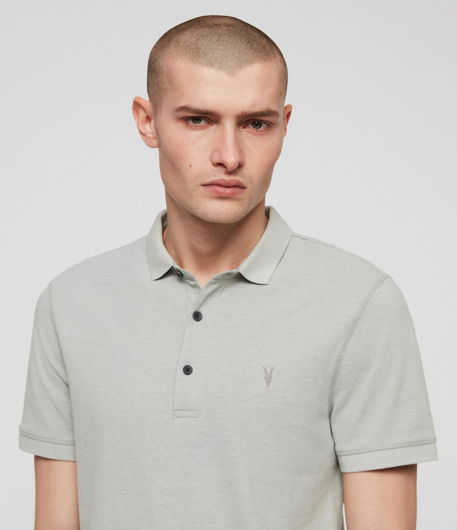Men's Reform Polo Shirt (mint_green_marl) - Image 2