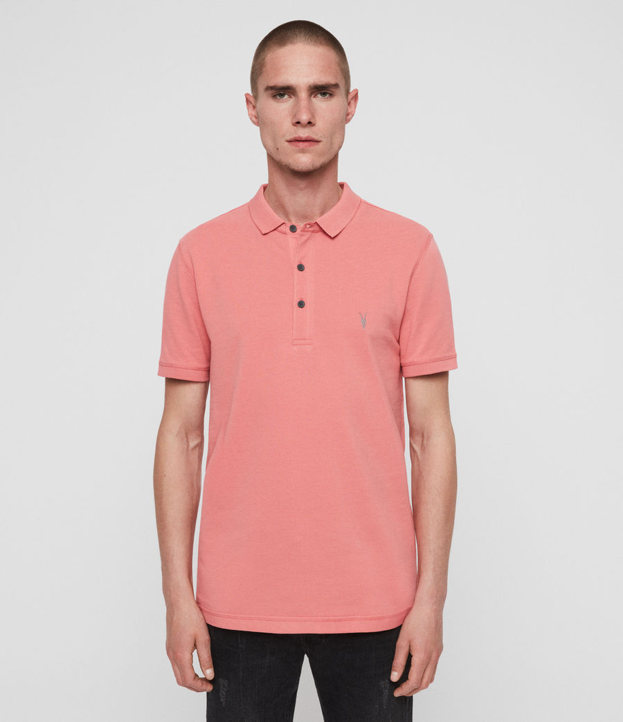 Men's Reform Short Sleeve Polo Shirt (havana_pink) - Image 1