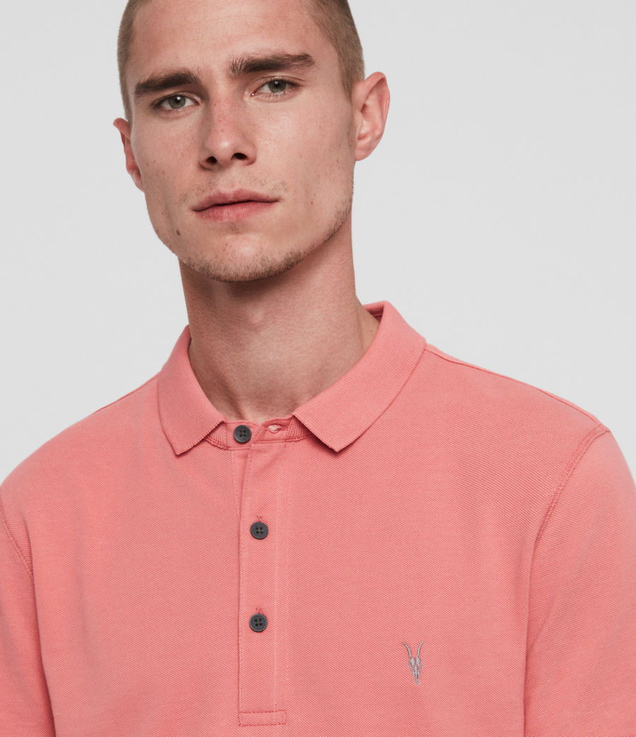 Men's Reform Short Sleeve Polo Shirt (havana_pink) - Image 2