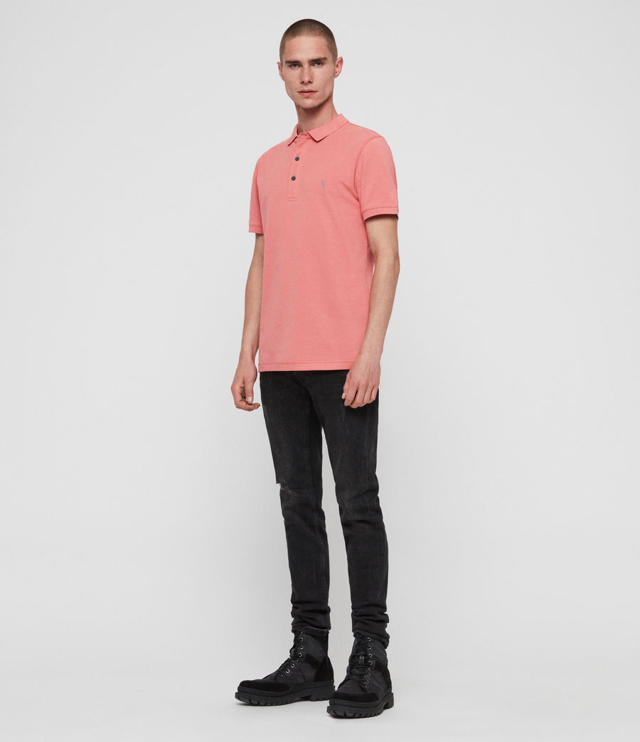 Men's Reform Short Sleeve Polo Shirt (havana_pink) - Image 3