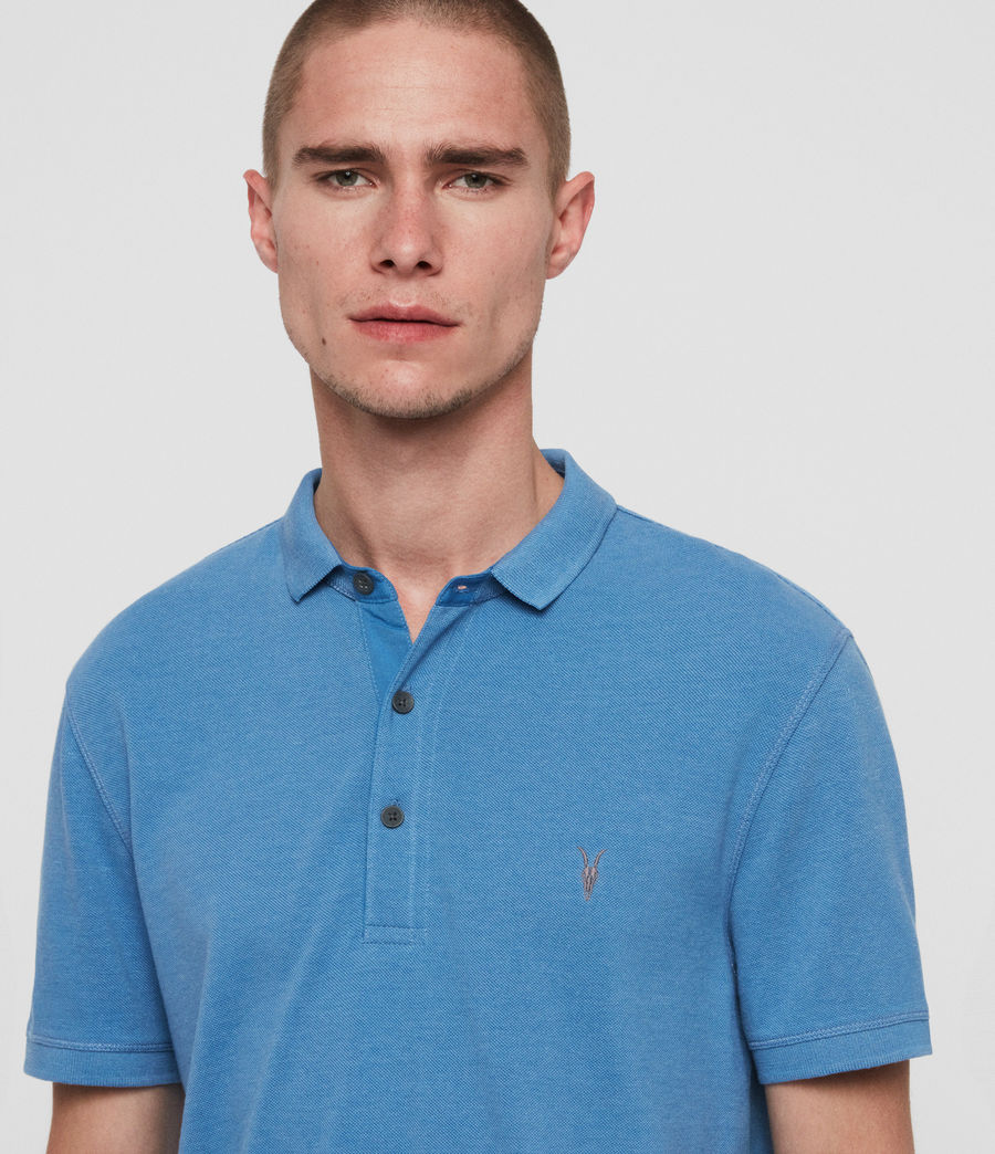 Mens Reform Short Sleeve Polo Shirt (ink_navy) - Image 2