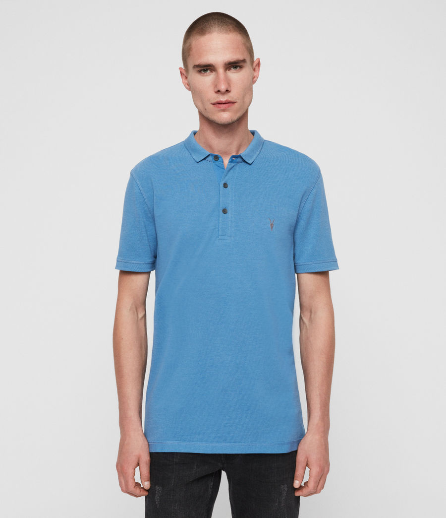Mens Reform Short Sleeve Polo Shirt (ink_navy) - Image 3
