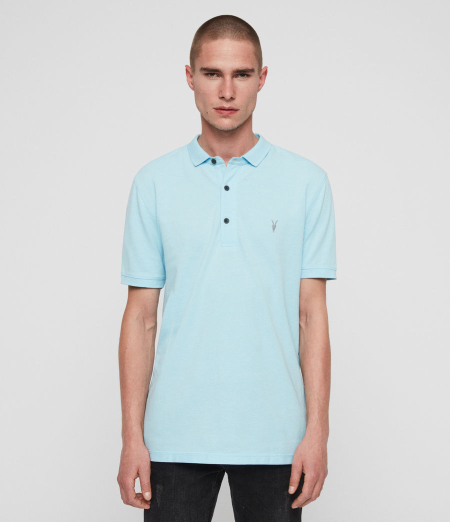 Men's Reform Short Sleeve Polo Shirt (hawaii_blue_marl) - Image 1