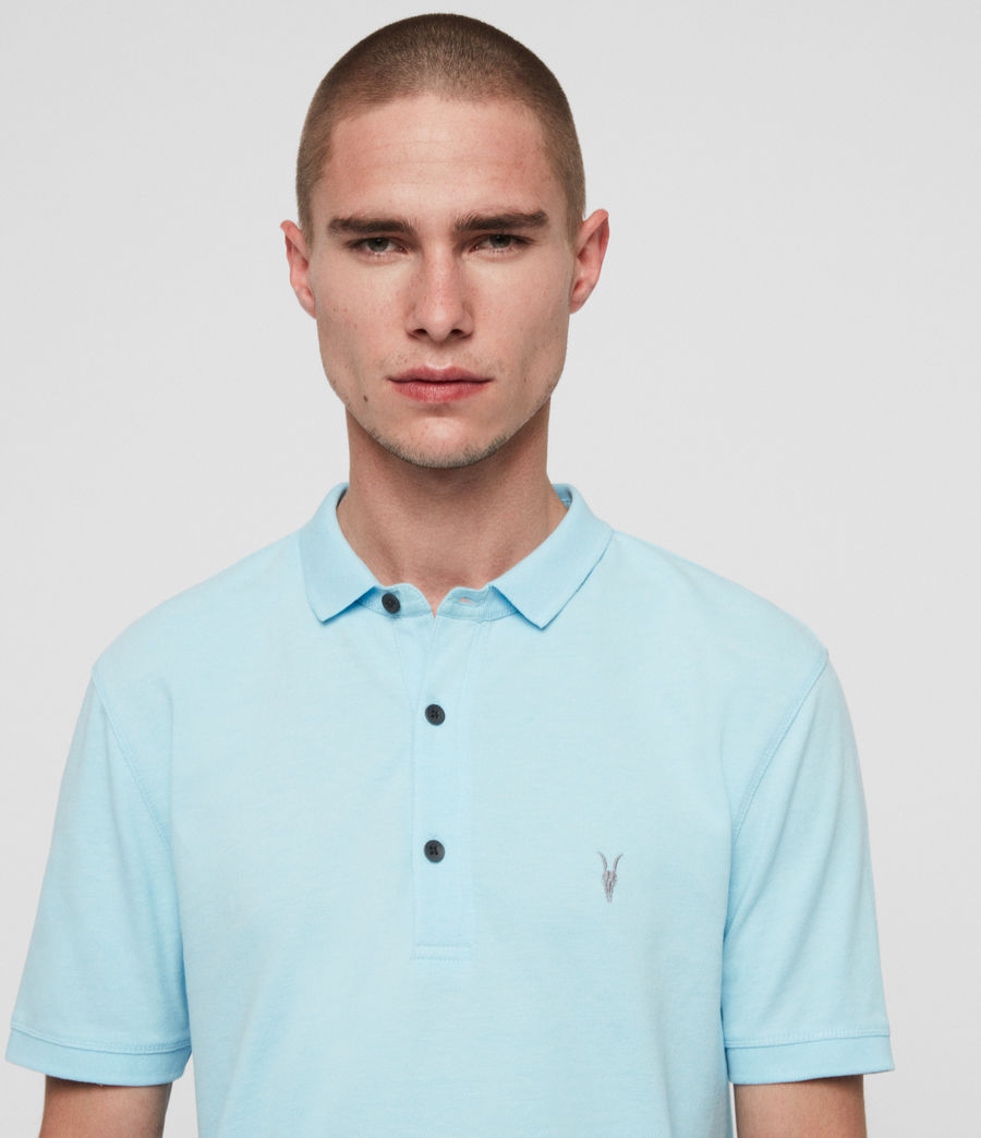 Men's Reform Short Sleeve Polo Shirt (hawaii_blue_marl) - Image 2