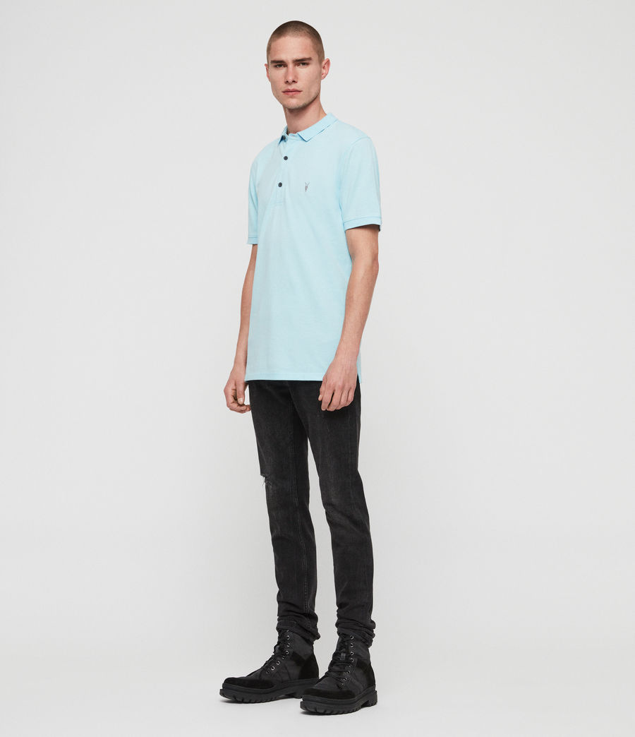 Men's Reform Short Sleeve Polo Shirt (hawaii_blue_marl) - Image 3