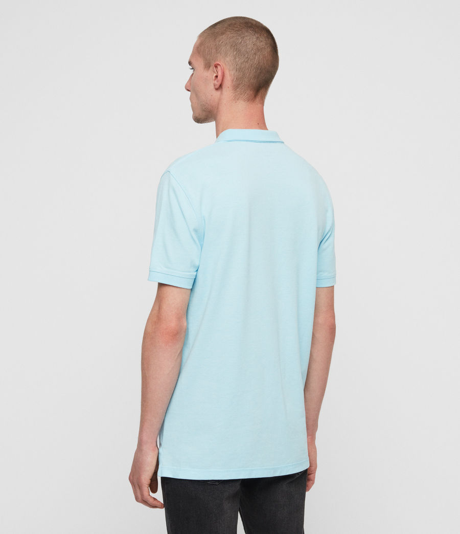 Men's Reform Short Sleeve Polo Shirt (hawaii_blue_marl) - Image 4