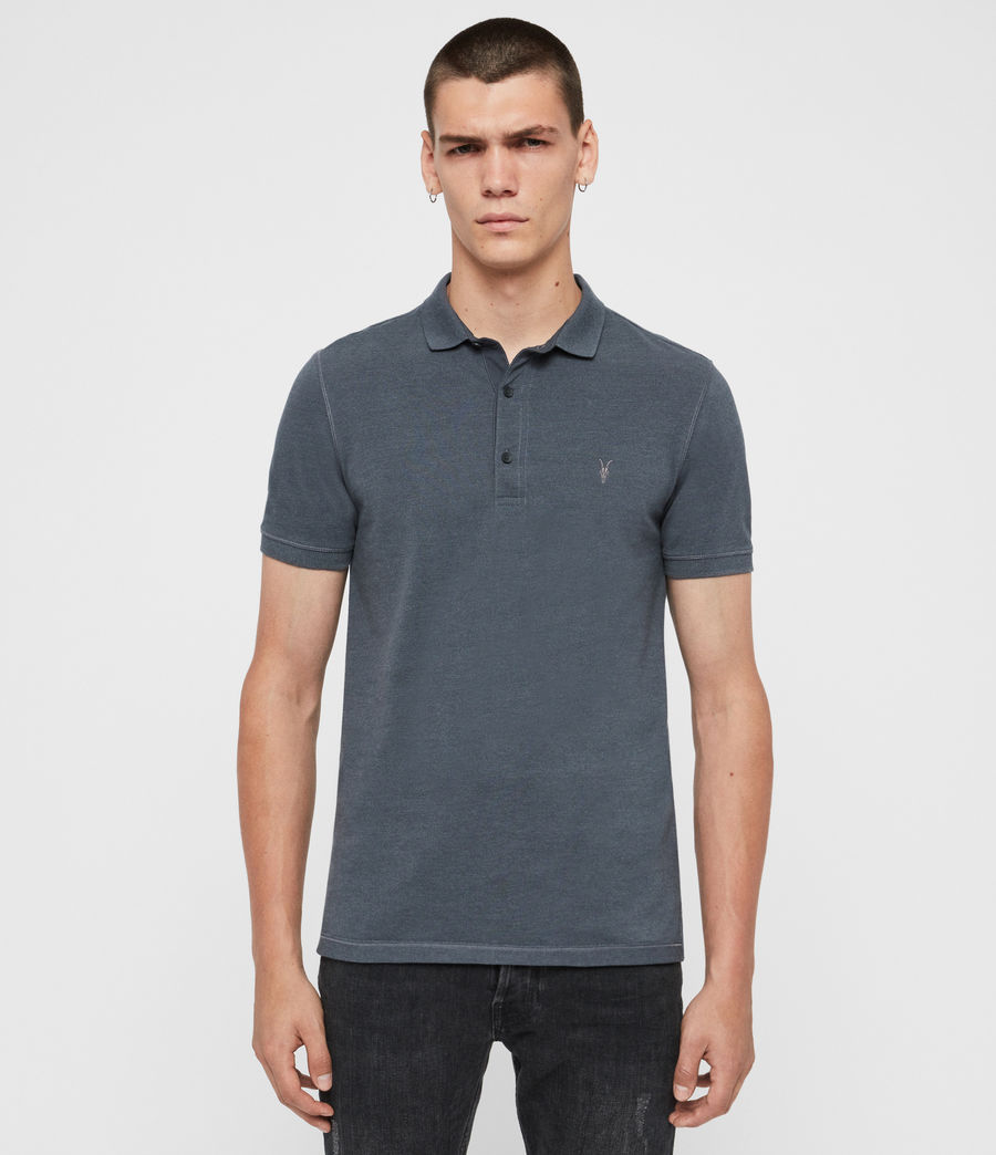 Herren Reform Short Sleeve Polo Shirt (maroon_red_marl) - Image 1
