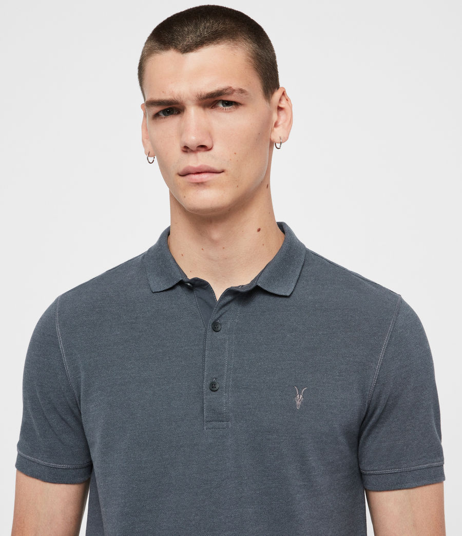 Herren Reform Short Sleeve Polo Shirt (maroon_red_marl) - Image 2