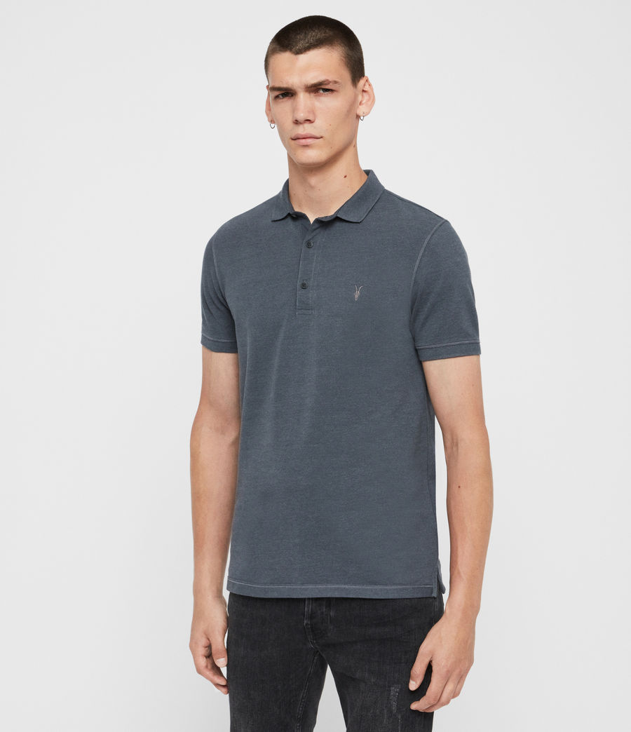 Herren Reform Short Sleeve Polo Shirt (maroon_red_marl) - Image 4