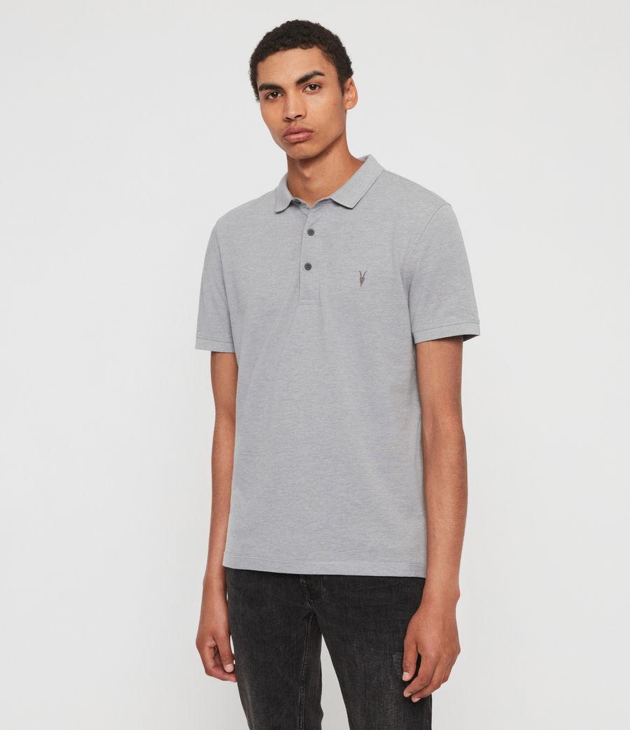 Men's Reform Polo Shirt (lt_ash_blue_marl) - Image 4