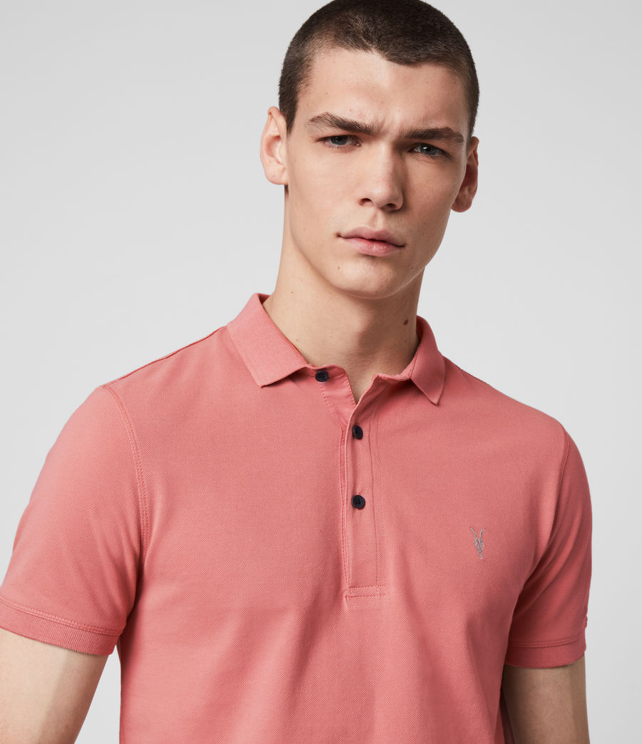 Hombres Reform Short Sleeve Polo Shirt (melon_pink) - Image 2