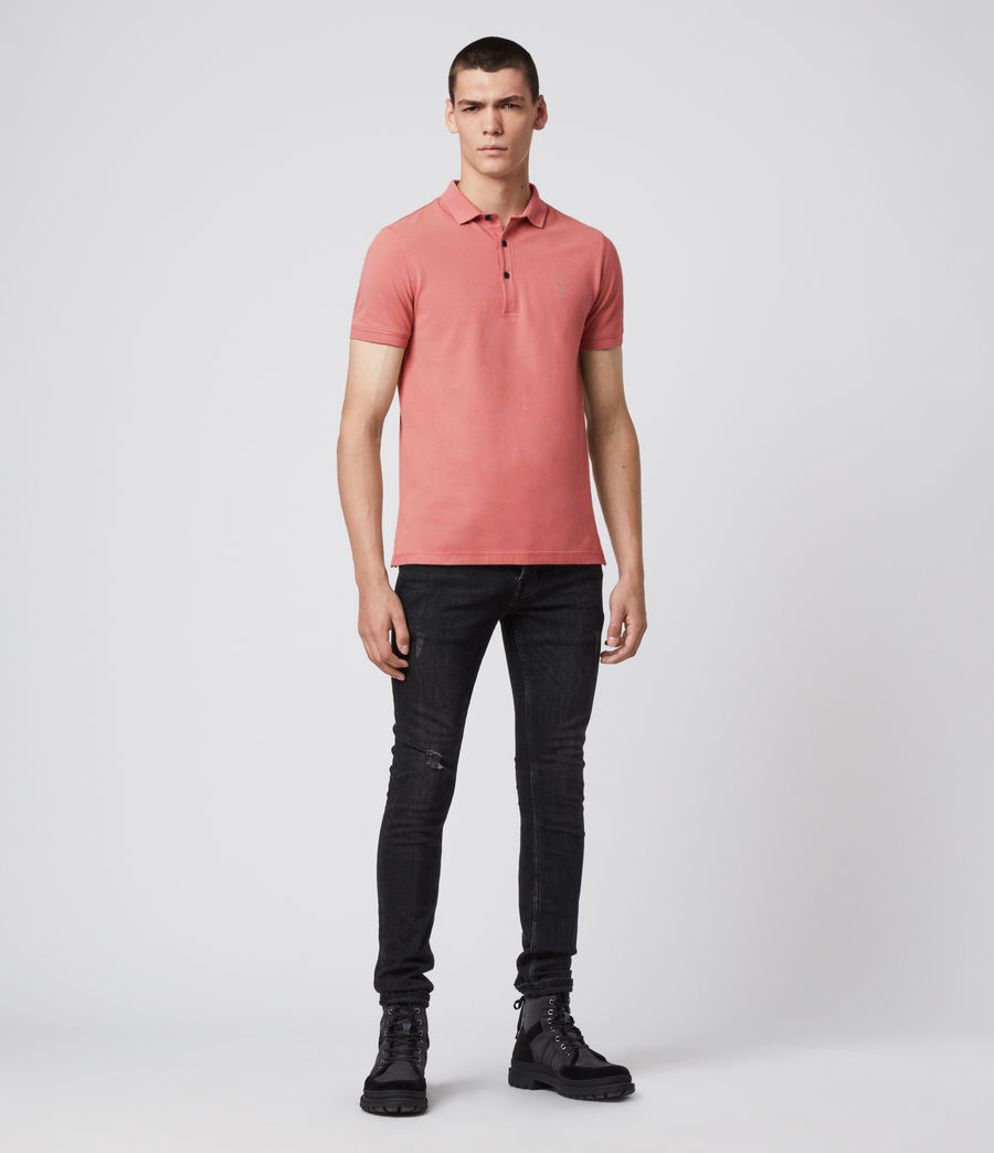 Hombres Reform Short Sleeve Polo Shirt (melon_pink) - Image 3