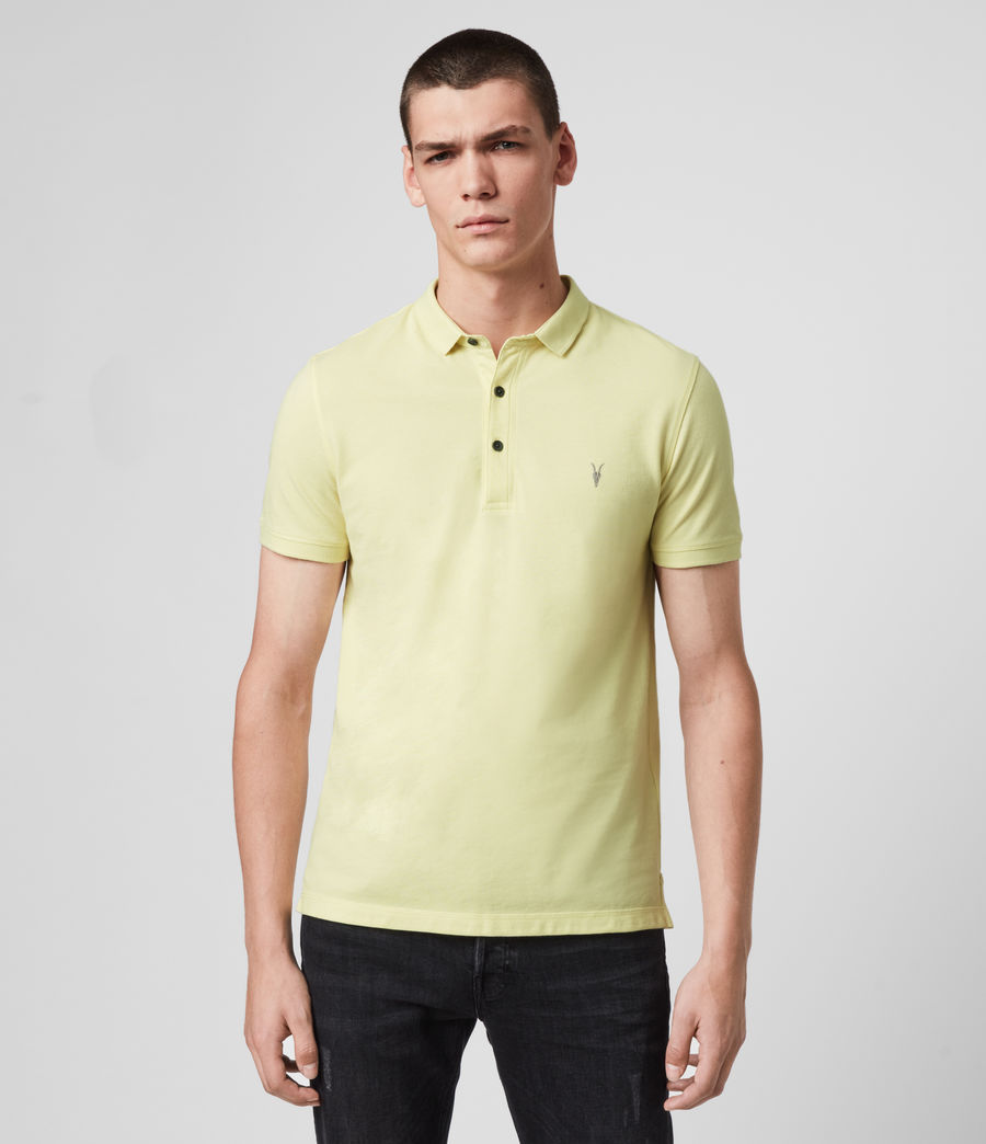 Hombres Reform Short Sleeve Polo Shirt (camomile_yellow) - Image 1