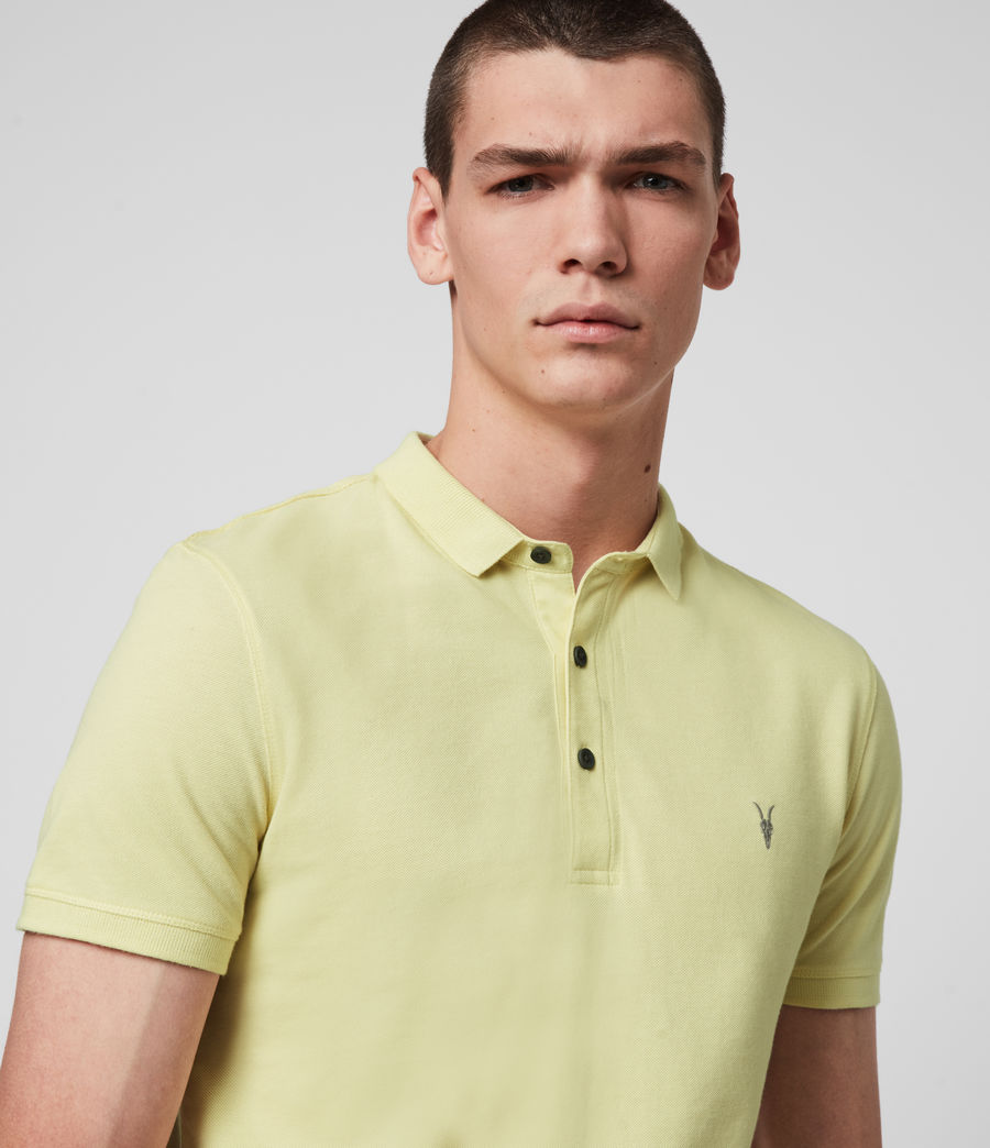 Hombres Reform Short Sleeve Polo Shirt (camomile_yellow) - Image 2