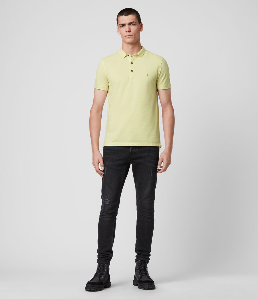 Hombres Reform Short Sleeve Polo Shirt (camomile_yellow) - Image 3