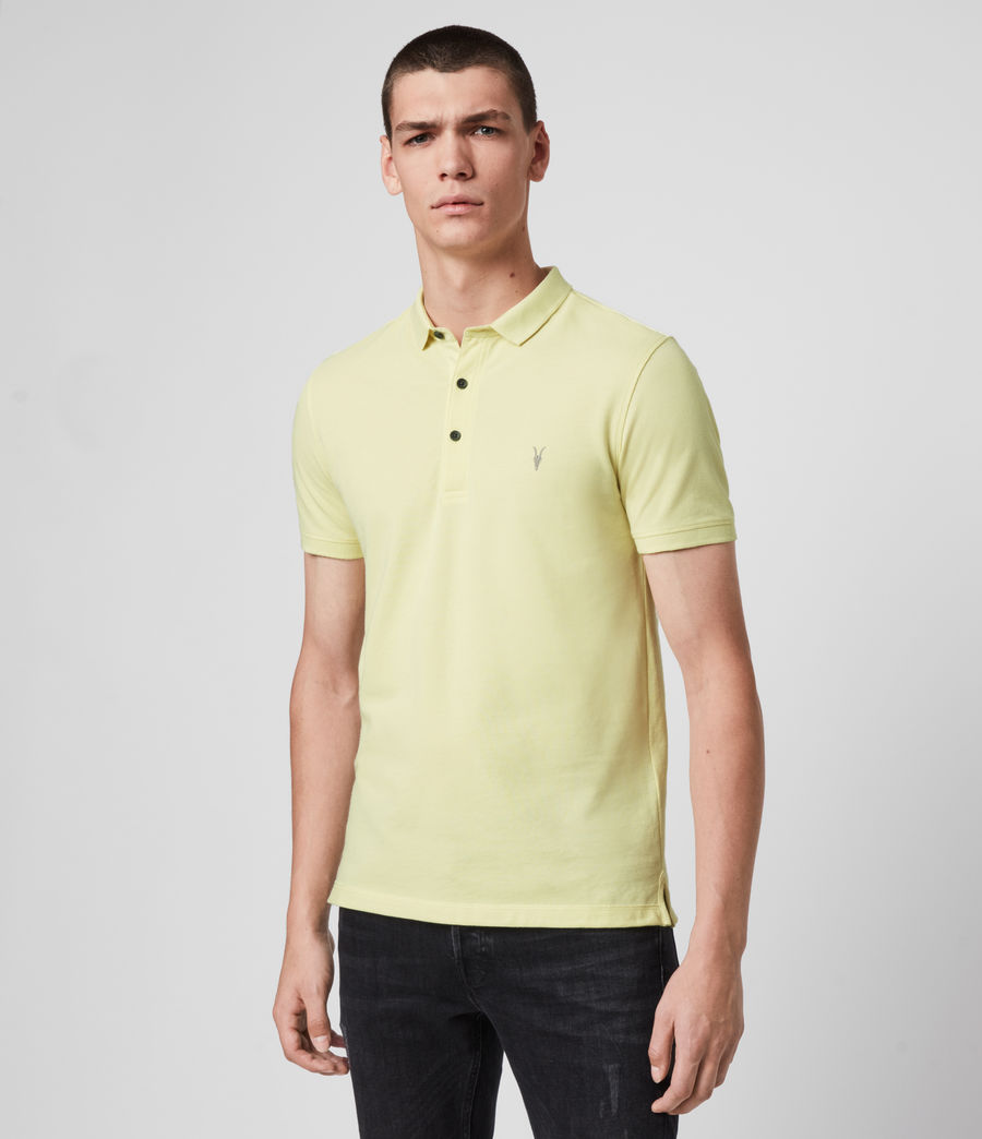Hombres Reform Short Sleeve Polo Shirt (camomile_yellow) - Image 4