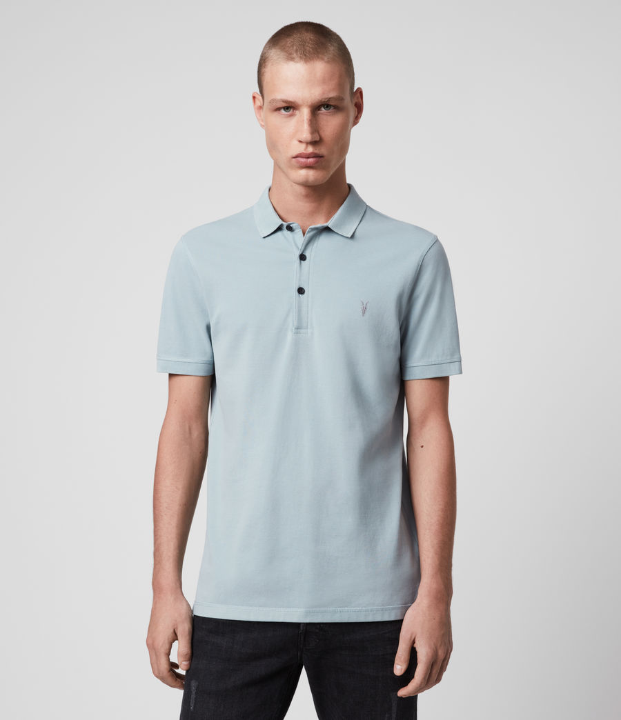 Hombres Reform Short Sleeve Polo Shirt (oyster_blue) - Image 1