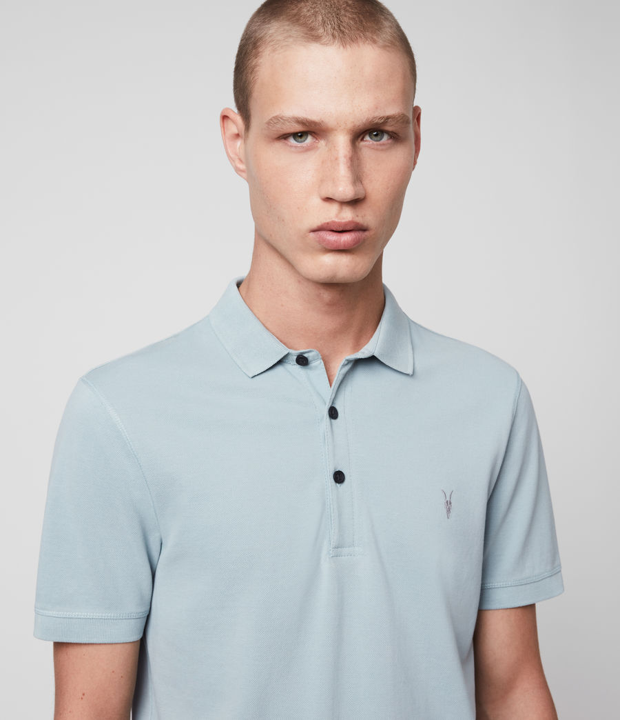 Hombres Reform Short Sleeve Polo Shirt (oyster_blue) - Image 2