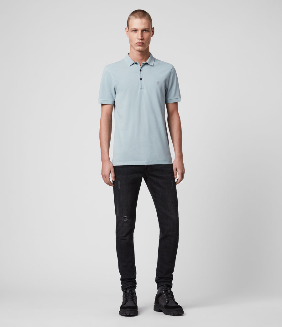 Hombres Reform Short Sleeve Polo Shirt (oyster_blue) - Image 3