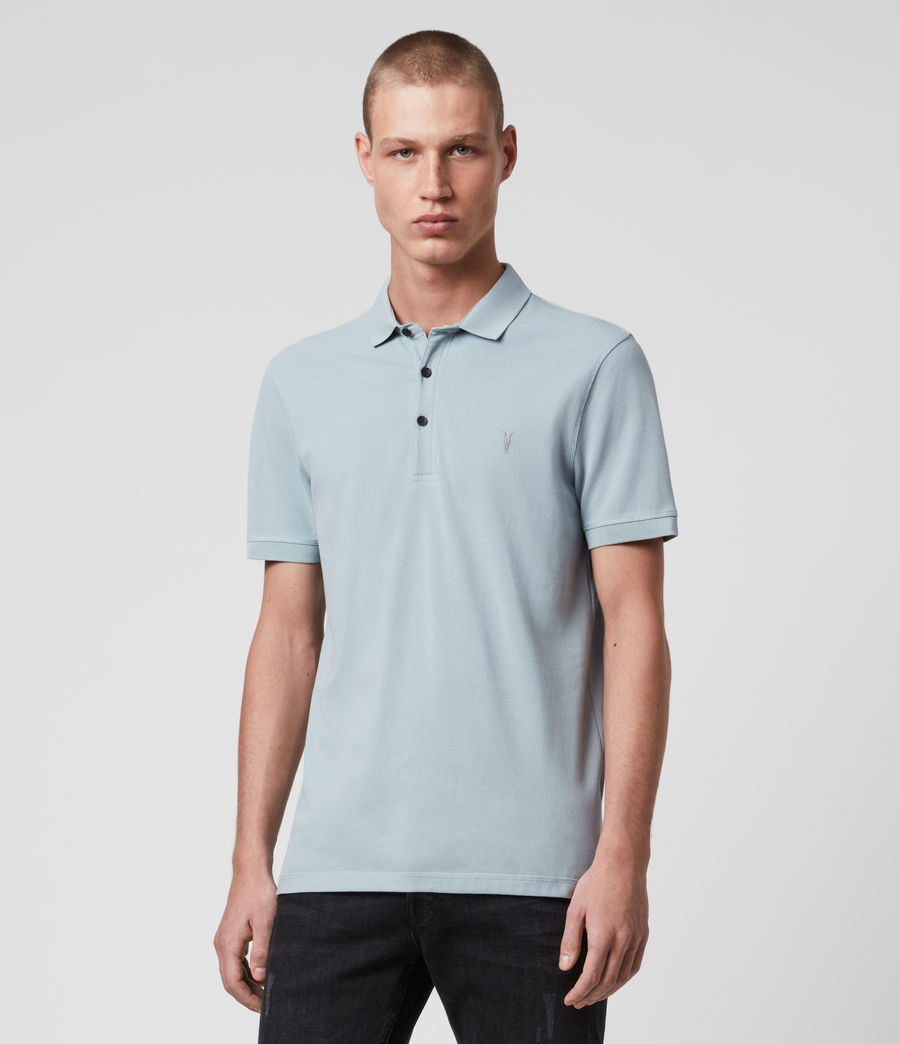 Hombres Reform Short Sleeve Polo Shirt (oyster_blue) - Image 4