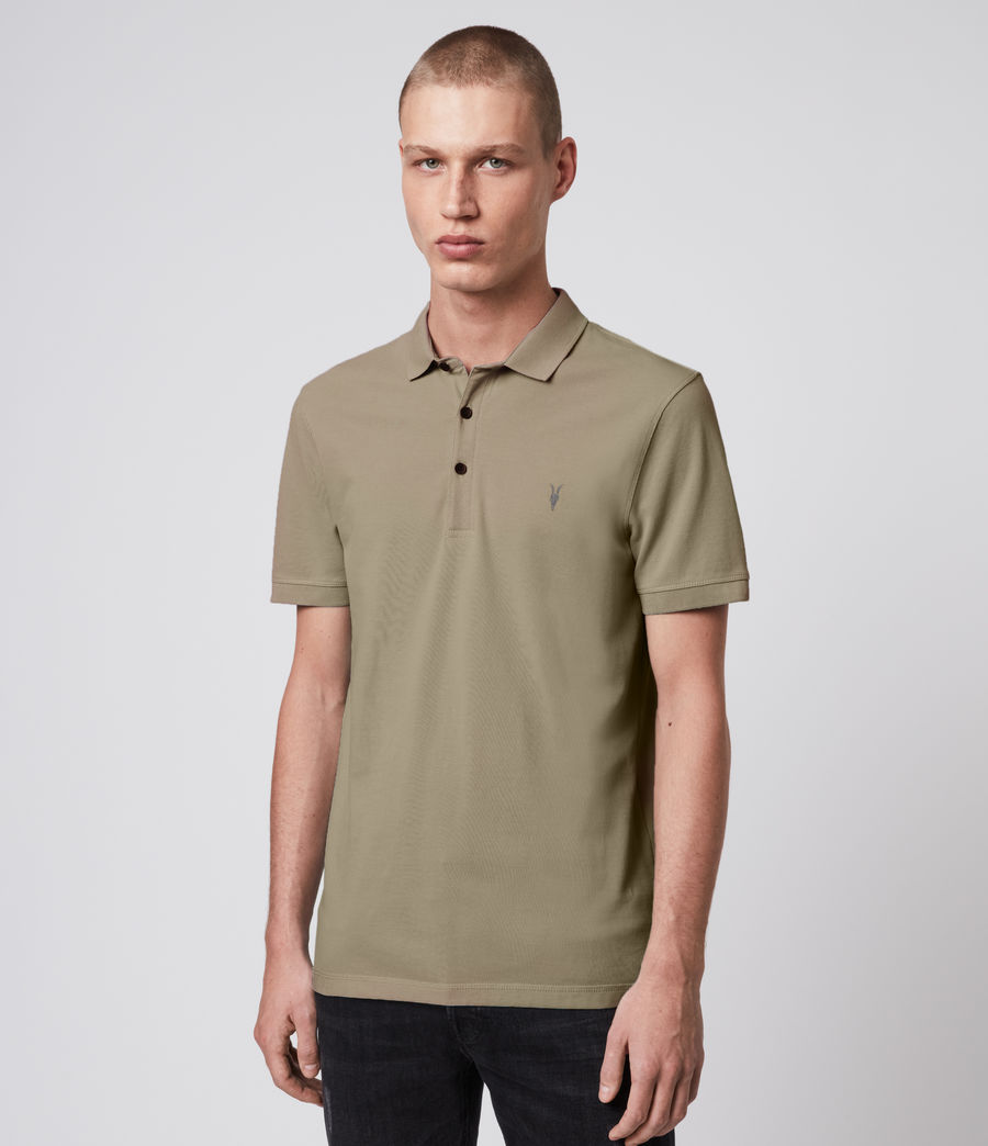 Hombre Reform Short Sleeve Polo Shirt (safari_taupe) - Image 1