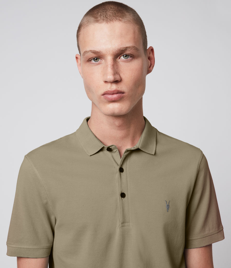 Hombre Reform Short Sleeve Polo Shirt (safari_taupe) - Image 2