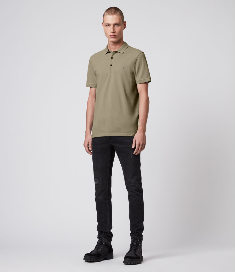 Hombre Reform Short Sleeve Polo Shirt (safari_taupe) - Image 3