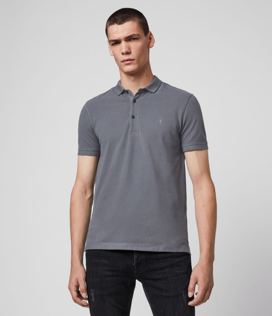 Men's Reform Short Sleeve Polo Shirt (ridge_blue) - Image 1