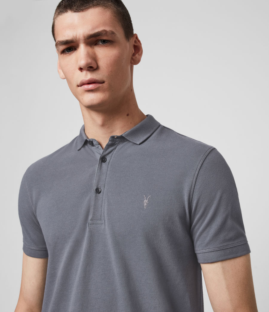Hombre Reform Short Sleeve Polo Shirt (ridge_blue) - Image 2