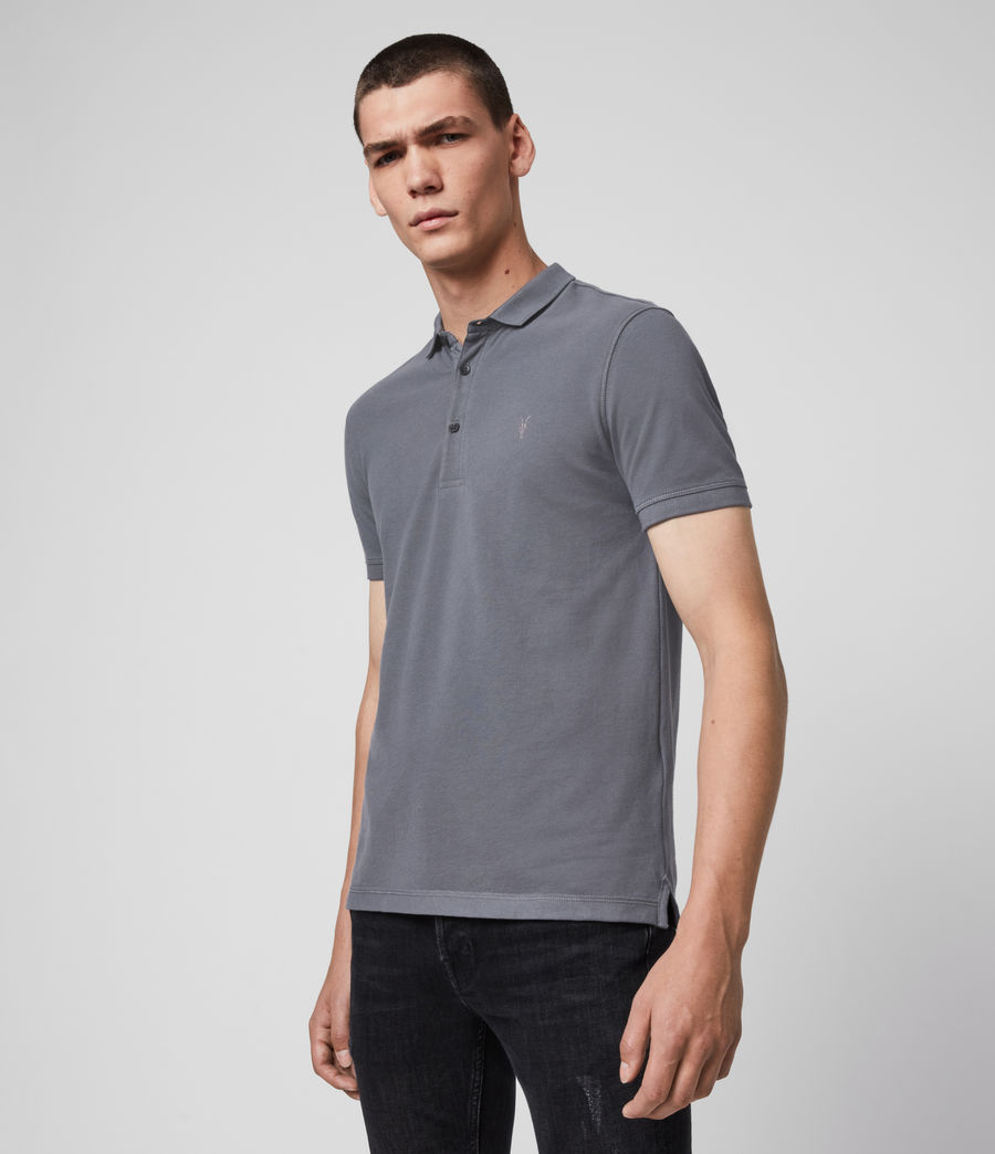Men's Reform Short Sleeve Polo Shirt (ridge_blue) - Image 2