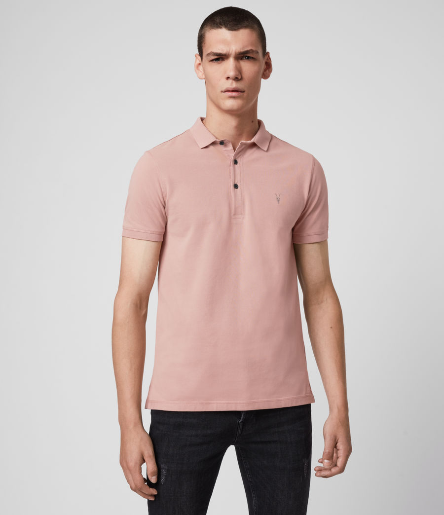Men's Reform Short Sleeve Polo Shirt (sunset_pink) - Image 1