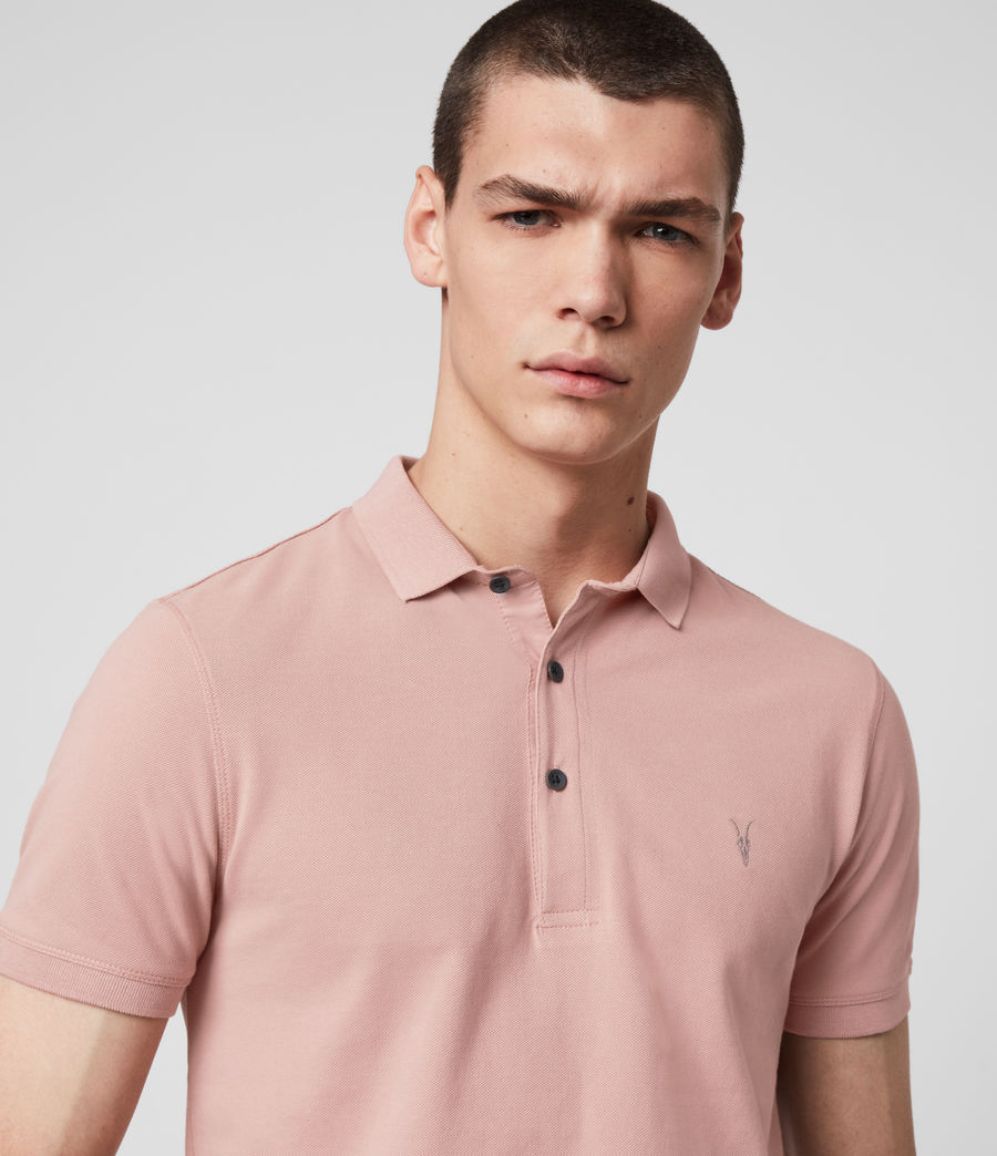 Hombres Reform Short Sleeve Polo Shirt (sunset_pink) - Image 1