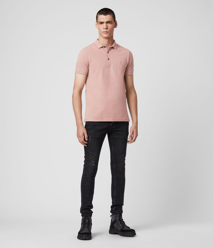 Hombres Reform Short Sleeve Polo Shirt (sunset_pink) - Image 3